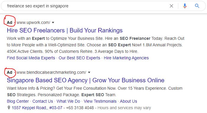 ppc search result